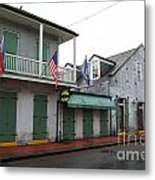 French Quarter Tavern Architecture New Orleans Metal Print