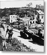 French Renault Wwi Tanks - France  Metal Print