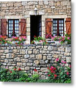French Stone House Metal Print
