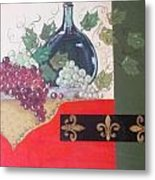 French Wine Metal Print