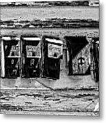 Freret Street Mailboxes - Black And White -nola Metal Print