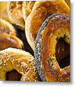 Fresh Bagels Metal Print by Elena Elisseeva