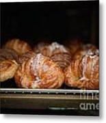 Fresh Croissants Paris Metal Print