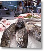 Fresh Fish On The Market Metal Print