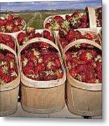 Fresh Picked Strawberries Metal Print