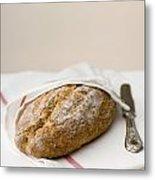 Freshly Baked Whole Grain Bread Metal Print