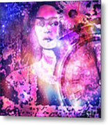 Frida In Pink Metal Print