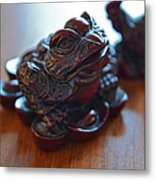Frog And Rooster Metal Print