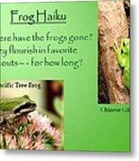 Frog Haiku Metal Print by Laurel Talabere