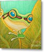 Frog Peeking Out Metal Print