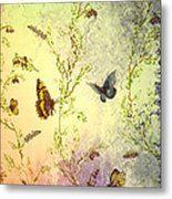 Frolicing Butterflies Metal Print