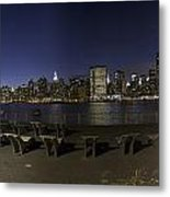 From Gantry At Night Metal Print
