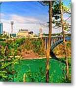 From Usa To Can Over The Rainbow Bridge Metal Print