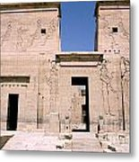 Front Of Philae Wall Metal Print