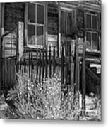 Front Porch Bodie Ghost Town California Metal Print
