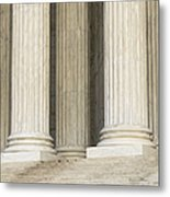 Front Steps And Columns Of The Supreme Court Metal Print