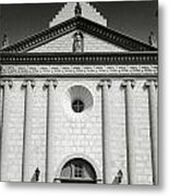 Front View Of Mission Santa Barbara Metal Print