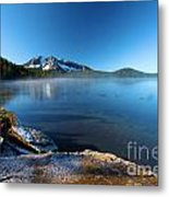 Frost On The Shore Metal Print