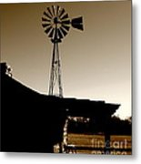 Frost On The Stoop Metal Print