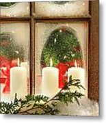 Frosted Window Metal Print by Sandra Cunningham