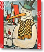 Frosty Family Poster Metal Print