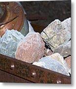 Frosty Rocks Metal Print