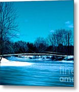 Frozen Bridge Metal Print