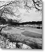 Frozen Central Park At Dusk Metal Print