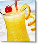 Frozen Tropical Orange Drink Metal Print