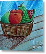 Fruit Basket Metal Print by Tanmay Singh