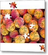Fruit Jigsaw1 Metal Print by Jane Rix