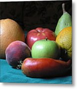 Fruit On The Porch Metal Print