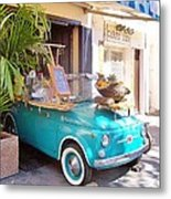 Fruit Stand In Collioure France Metal Print
