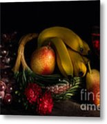 Fruit Still Life With Wine Metal Print