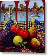 Fruits And River Metal Print