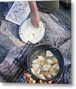 Frying Walleye Fish Fillets Metal Print