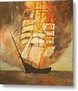 Fuego Al Mar Metal Print