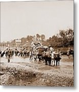 Fugitive African Americans Fording Metal Print by Everett