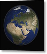 Full Earth View Showing Africa, Europe Metal Print