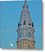 Full Moon And Billy Penn Metal Print