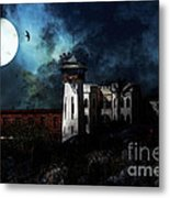 Full Moon Over Hard Time - San Quentin California State Prison - 7d18546 Metal Print