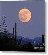 Full Moon Rise Gold Canyon Az Metal Print