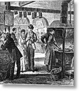 Fulton Fish Market, 1870 Metal Print
