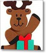 Fun Reindeer Sitting Metal Print