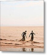 Fundy Bay New Brunswick Canada Metal Print by Isabel Poulin