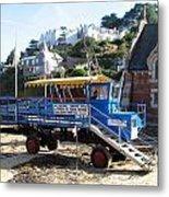 Funky Ferry Landing Vehicle Metal Print