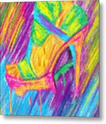 Funky Stilettos Impression Metal Print