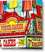 Funnel Cakes Carnival Food Vendor Metal Print