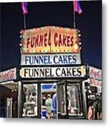 Funnel Cakes Metal Print by Joan Meyland