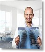 Funny Doctor Metal Print